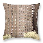 New York Public Housing Throw Pillow