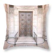 New York Public Library Entrance I Throw Pillow