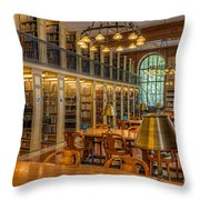 New York Public Library Genealogy Room I Throw Pillow