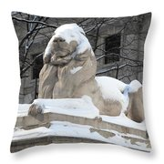 New York Public Library Lion Throw Pillow