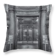 New York Public Library Main Reading Room Entrance II Throw Pillow