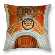 New York Public Library Ornate Ceiling Throw Pillow