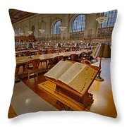 New York Public Library Rose Main Reading Room  Throw Pillow