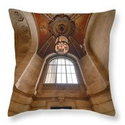New York Public Library Stairwell Throw Pillow