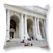 New York Public Library Throw Pillow