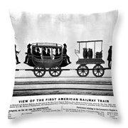 New York Railroad, 1832 Throw Pillow
