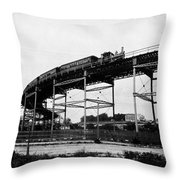 New York Railroad Bridge Throw Pillow