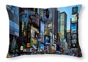 New York Rush Hour Throw Pillow