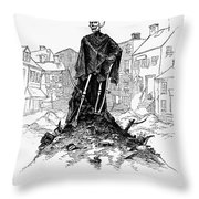 New York: Sanitation, 1885 Throw Pillow