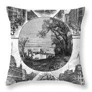 New York Saratoga, 1874 Throw Pillow