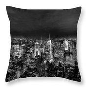 New York Skyline 3bw Throw Pillow