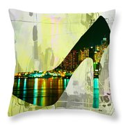 New York Skyline In A Shoe Throw Pillow