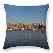New York - Skyline Of New York Throw Pillow