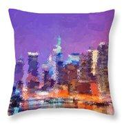 New York City - Skyline Throw Pillow
