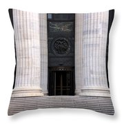New York State Education Building Entrance Throw Pillow