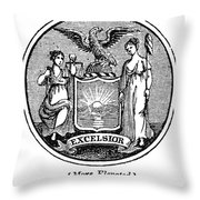 New York State Seal Throw Pillow