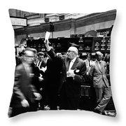 New York Stock Exchange 1963 Throw Pillow