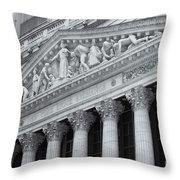New York Stock Exchange II Throw Pillow