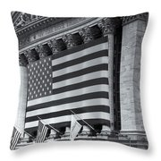 New York Stock Exchange Iv Throw Pillow