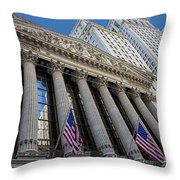 New York Stock Exchange Wall Street Nyse  Throw Pillow