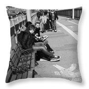New York Street Photography 15 Throw Pillow