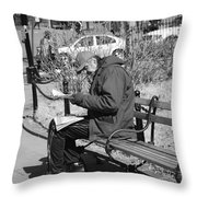 New York Street Photography 2 Throw Pillow