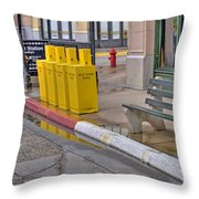 New York Street Scene Throw Pillow
