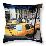 New York Taxi Cabs Throw Pillow