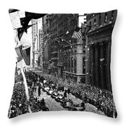 New York Ticker Tape Parade Throw Pillow