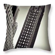 New York Time Throw Pillow