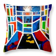 New York Times Square  By Janelle Dey Throw Pillow
