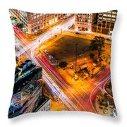 New York Traffic Throw Pillow