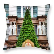 New York Tree Throw Pillow