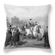 New York: Washington, 1783 Throw Pillow