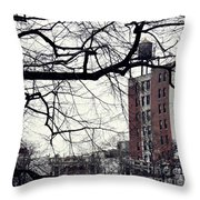 New York Winter Day 2 Throw Pillow