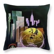 New York Worlds Fair Throw Pillow