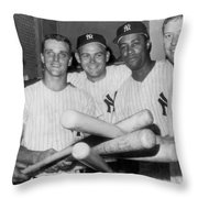 New York Yankee Sluggers Throw Pillow
