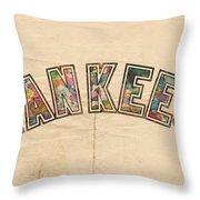 New York Yankees Poster Art Throw Pillow