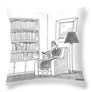 New Yorker April 11th, 1988 Throw Pillow