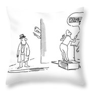 New Yorker April 21st, 1975 Throw Pillow