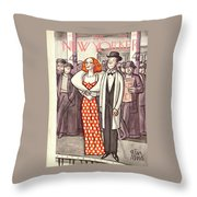 New Yorker April 24th, 1937 Throw Pillow