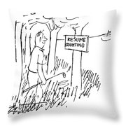 New Yorker August 13th, 1955 Throw Pillow
