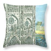 New Yorker August 13th, 1966 Throw Pillow