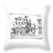 New Yorker August 13th, 1990 Throw Pillow
