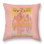 New Yorker August 18th, 1975 Throw Pillow