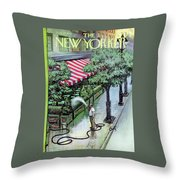New Yorker August 27th, 1955 Throw Pillow