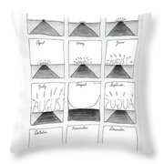 New Yorker August 29th, 1988 Throw Pillow