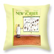 New Yorker August 4th, 1986 Throw Pillow