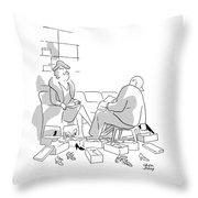 New Yorker December 14th, 1946 Throw Pillow