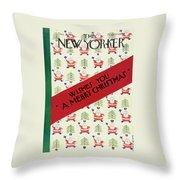 New Yorker December 21 1929 Throw Pillow